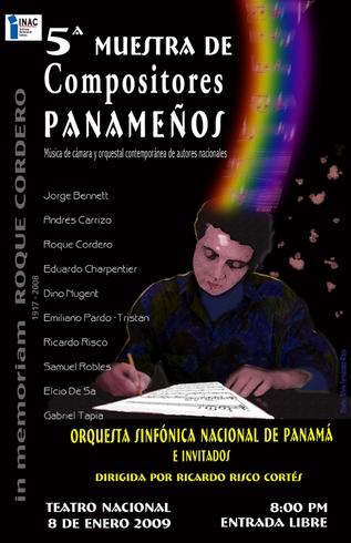 5ta Muestra de Compositores Panameños - Homenaje a Roque Cordero