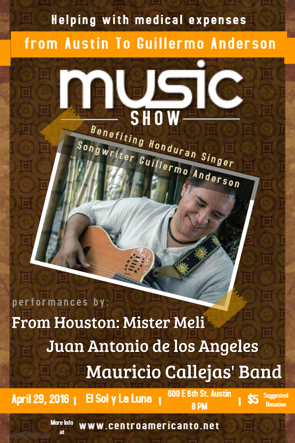 Poster Austin para Guillermo Anderson